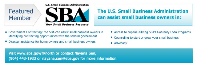 U.S. Small Business Administration Featured Member Banner